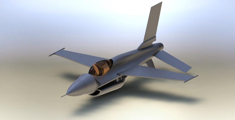 Fighter Jet Plane   3D CAD Model Library   GrabCAD