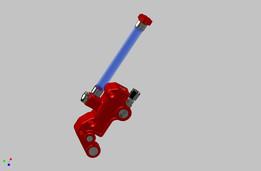 Motorcycle brake cylinder