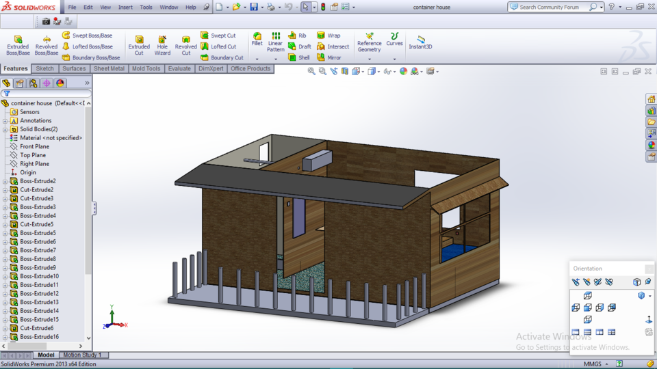 Container house model 3d cad model library grabcad ccuart Image collections