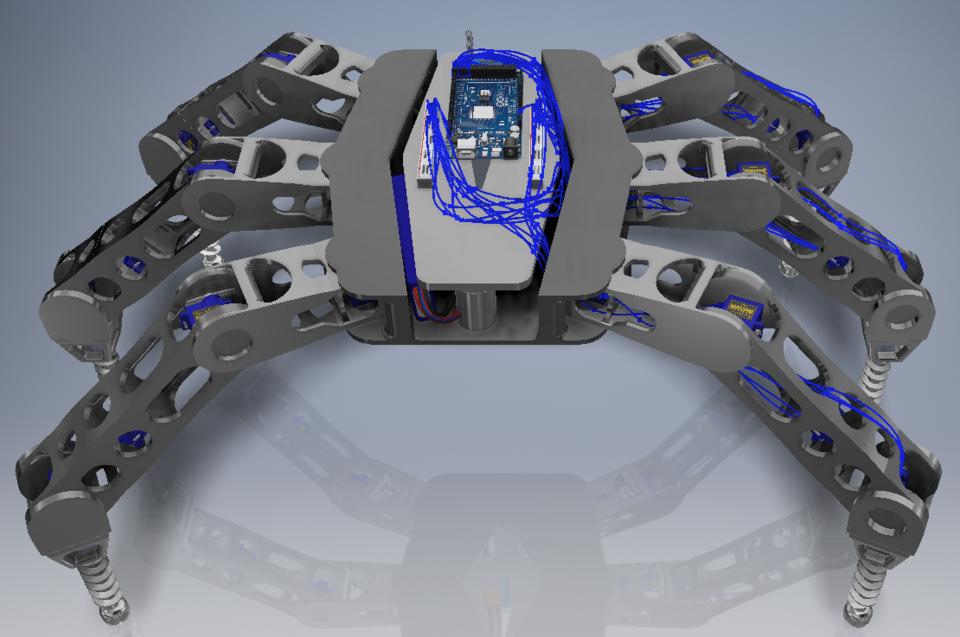 Amphibious 5 Joint Hexapod Robot | 3D CAD Model Library