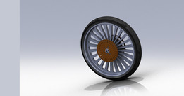 Rear wheel for street bike .