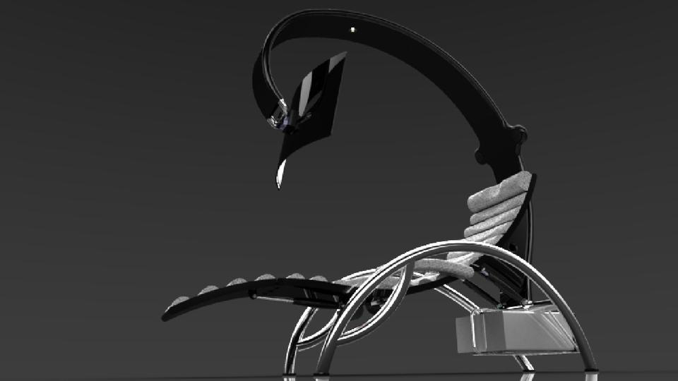 Ergonomic Lounge Chair   3D CAD Model Library   GrabCAD