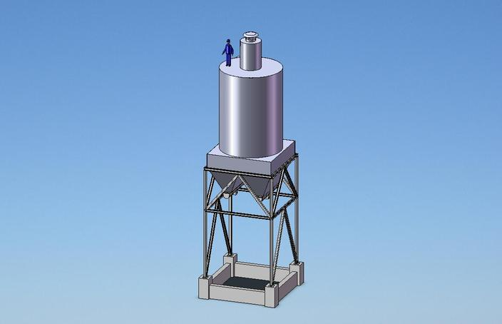 Silo with dust filter