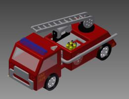 TeachMe3D Fire Truck