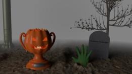 pumpkin carving contest trophy