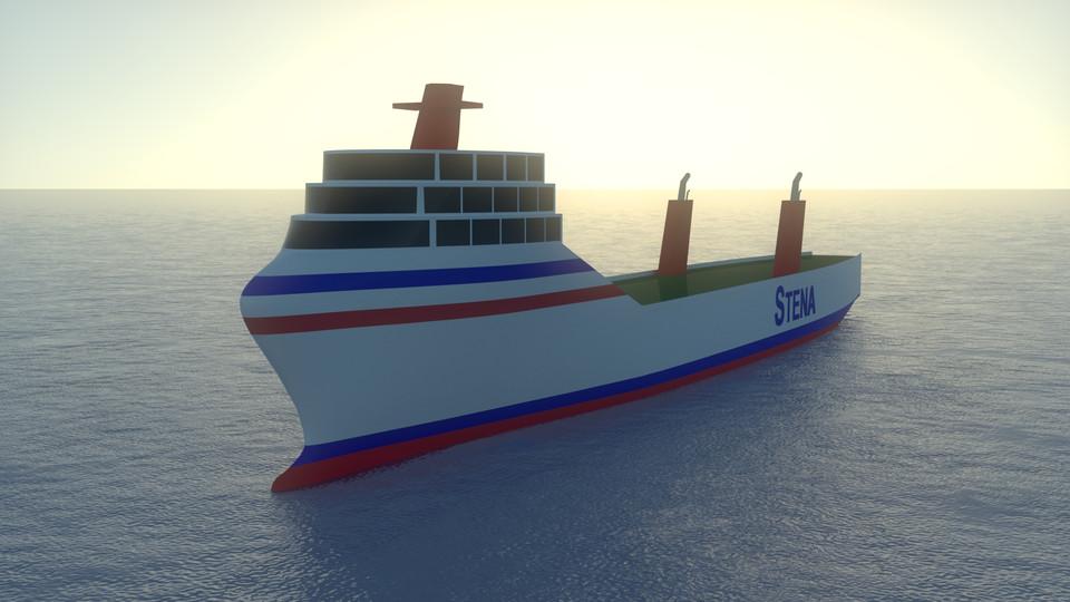 Stena Teknik Ro-Ro cargo ship hull  | 3D CAD Model Library
