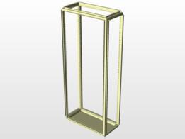 Two sheet 8 folded frames new development structural design for sheet metal panel enclosure