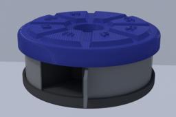 Circular Pill Container