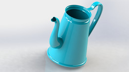 Madam Blue coffee pot