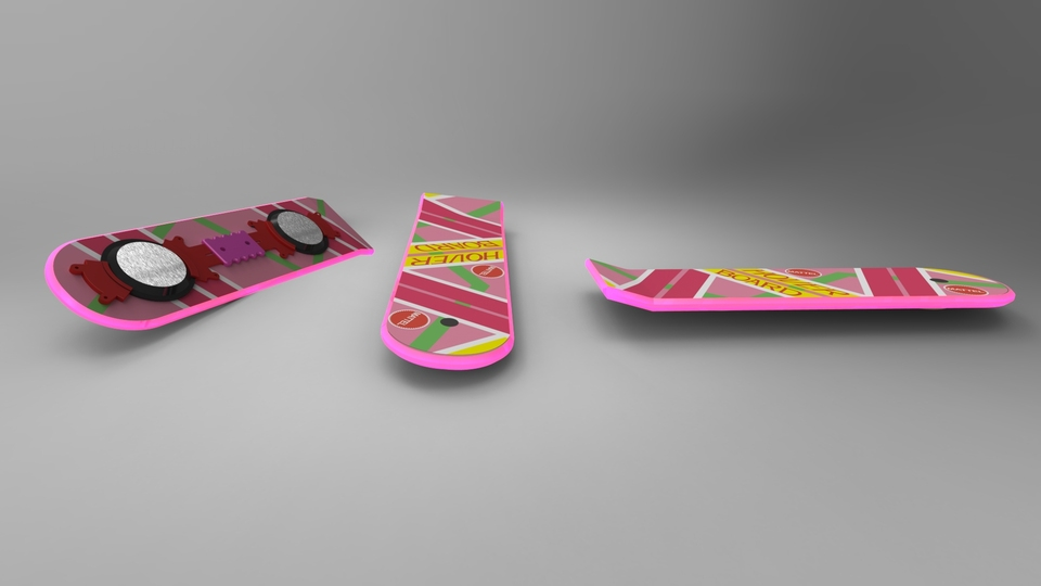 Back To The Future Hover Board | 3D CAD Model Library | GrabCAD