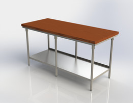 Maple Top Stainless Table