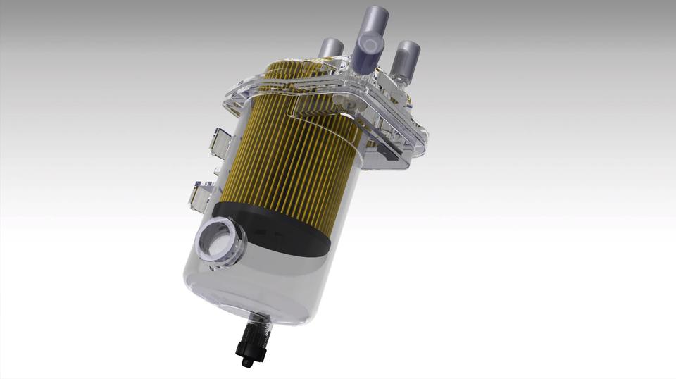 1 5 dci fuel filter 3d cad model library grabcad Jeep Fuel Filter