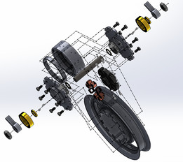 Hub-motor Mounted two wheeler's wheel
