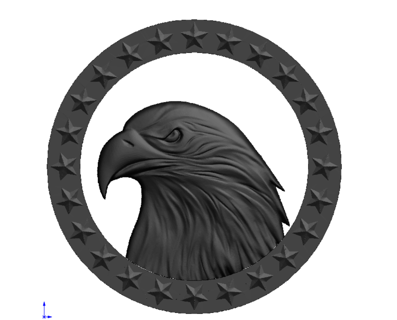 PATTERN EAGLE | 3D CAD Model Library | GrabCAD
