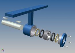 Screw conveyor middle joint hub