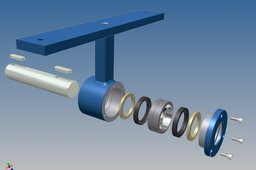 Screw conveyor middle joint hub