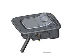 Koenigsegg hood release handle assy-B