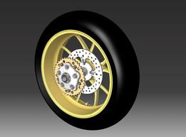 Ducati Monster 1100S Rear wheel