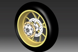 Ducati Monster 1100S Rear wheel