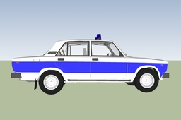 Lada 2105 (retro hungarian police car)