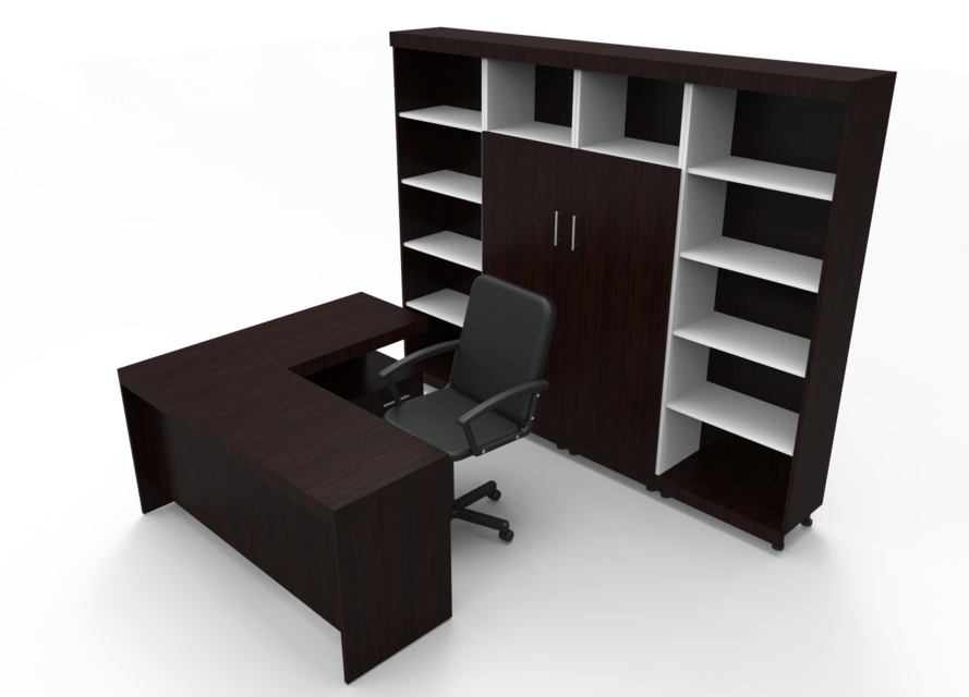Office furniture step iges solidworks 3d cad model for Office table 3d design