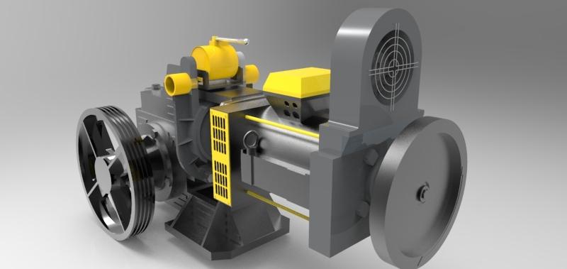 Elevator Engine | 3D CAD Model Library | GrabCAD