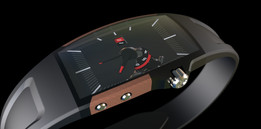 watch with wood inlays