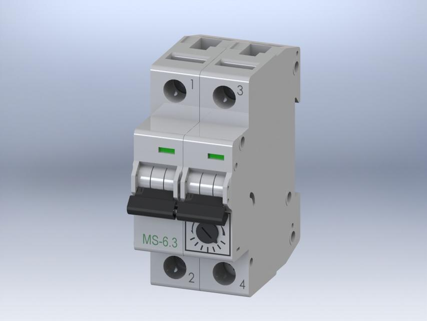 breaker disjoncteur ms 6 3 3d cad model library grabcad rh grabcad com circuit breaker box 3d model Circuit Breaker Box