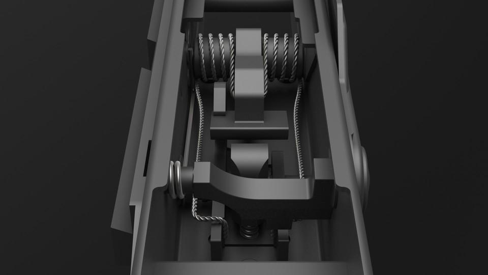 Ak 47 Hammer Spring 3d Cad Model Library Grabcad