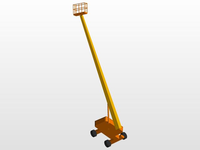 JLG 800S Telescopic Man Lift | 3D CAD Model Library | GrabCAD
