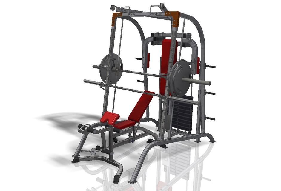Gym Equipment   3D CAD Model Library   GrabCAD
