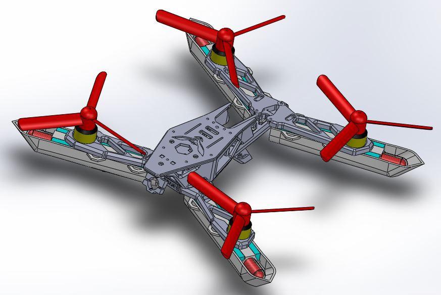 Dracula Drone Step Iges 3d Cad Model Grabcad