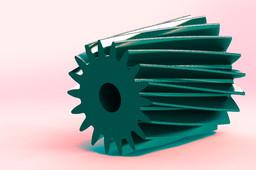 simple helical gear