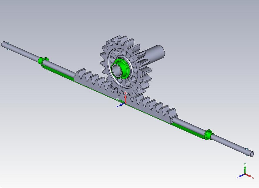 Steering Rack And Pinion With Right Ball Joint Step Iges Cad Model Grabcad