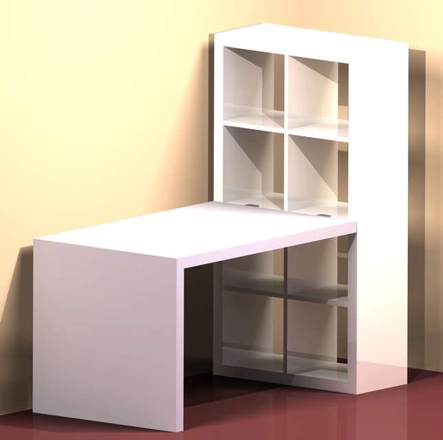 Charmant IKEA Expedit   Desk | 3D CAD Model Library | GrabCAD