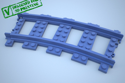 Lego Train Track, Curved w Support