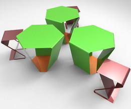 table and chair (sheetmetal)