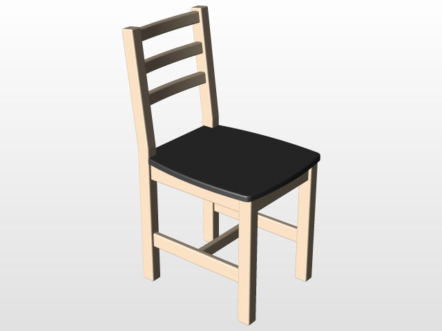 Prime Diy Wooden Chair 3D Cad Model Library Grabcad Download Free Architecture Designs Scobabritishbridgeorg
