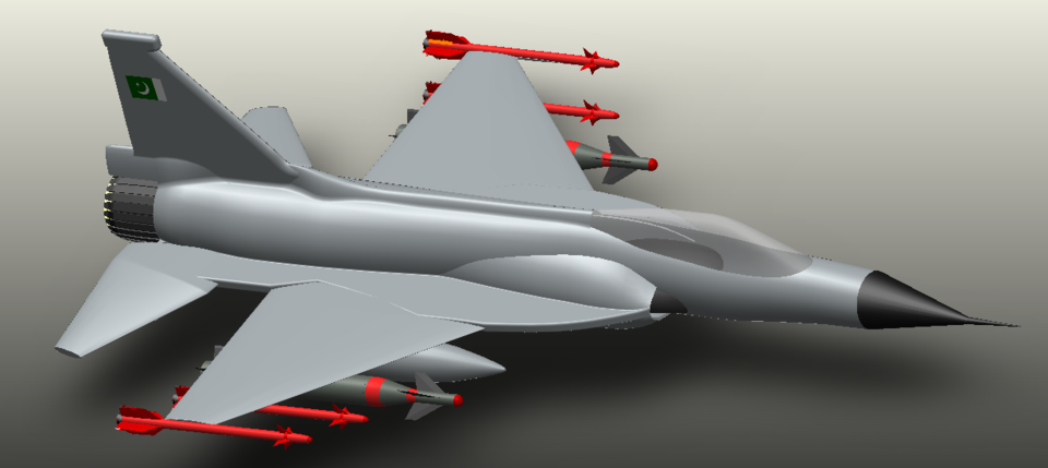 PAC JF-17 Thunder/CAC FC-1 Fighter Aircraft | 3D CAD
