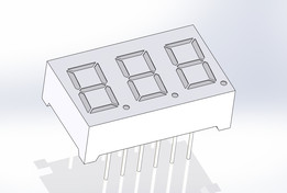 SnowDragon Industrial 3 character 7 segment 0.36 inch LED display