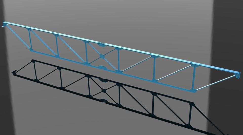 Steel truss, frame - SOLIDWORKS,STL - 3D CAD model - GrabCAD