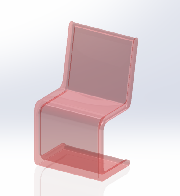 Delicieux Modern See Through Chair | 3D CAD Model Library | GrabCAD