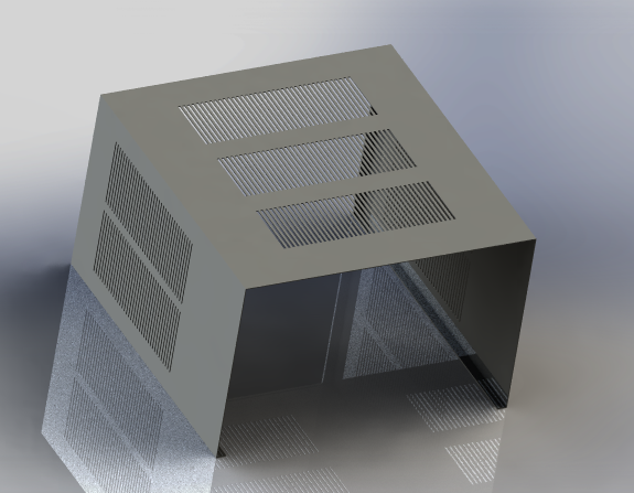 window ac outer cover | 3D CAD Model Library GrabCAD