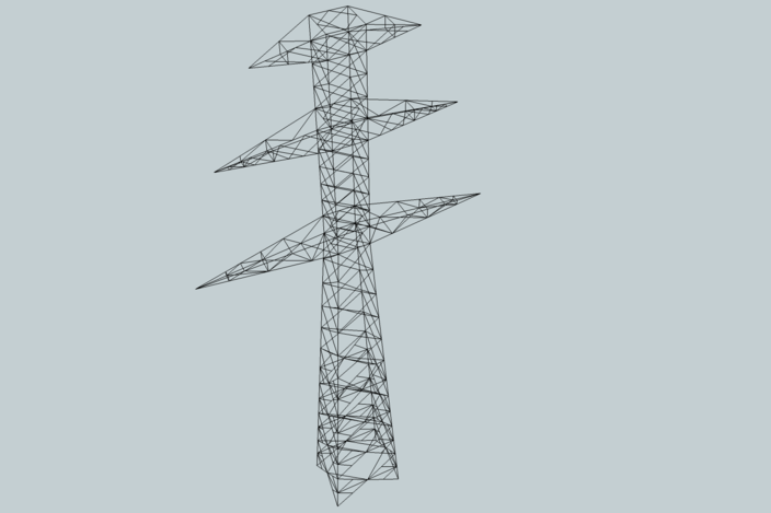 power pole - sketchup - 3d cad model
