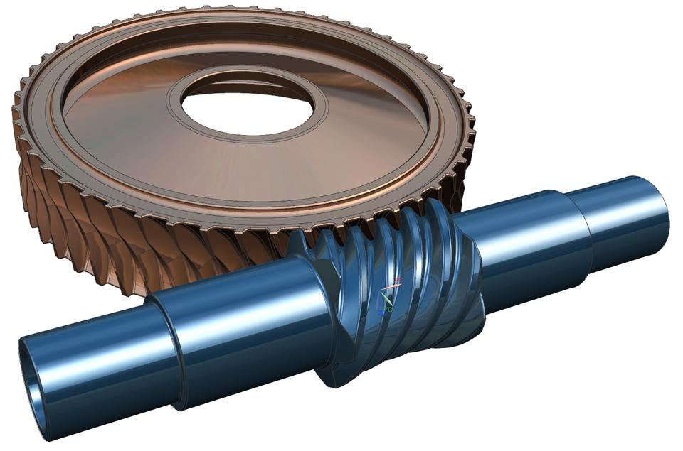 Globoid Gear Set | 3D CAD Model Library | GrabCAD