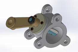 butterfly valve with sketch and dimension
