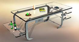 glass 'n steel table - mark 2