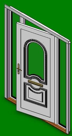 PVC Hall-Door