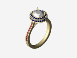 Bright Cut Ring