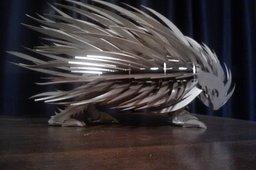 Porcupine,sheet metal puzzle, rodent, 3d model, 3d puzzle, metalcraftdesign